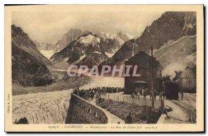 Old Postcard Chamonix Montenvers Mer de Glace (altitude 909 m)