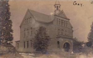 Pennsylvania Newwaterford Public School 1907 Real Photo RPPC