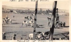 Weiser Idaho Round Up Rodeo Scene Real Photo Antique Non Postcard Back J80584