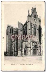 Old Postcard Basilica Clery External view