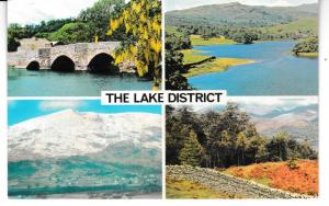 Post Card Cumbria Lake District THE LAKE DISTRICT 4 views