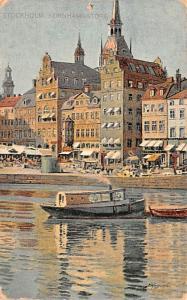 Sweden Old Vintage Antique Post Card Kornhamnstorg Stockholm Unused