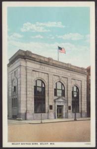 Beloit Savings Bank,Beloit,WI Postcard
