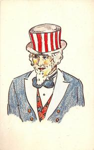 A56/ Patriotic Postcard Uncle Sam United States Arlington Mass. Wilson c1960 15