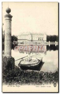 Old Postcard Rambouillet Park Chateau seen from I & # 39lle chickens