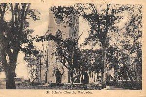 Barbados West Indies Post card Old Vintage Antique Postcard St. John's C...