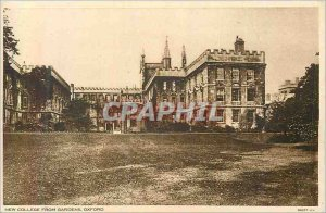 Old Postcard from New College Oxford Gardens