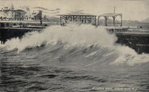 ASBURY PARK , New Jersey , PU-1910 ; A Large Wave
