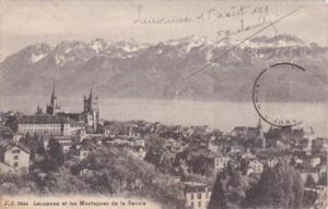 Switzerland Lausanne et les Montagnes de la Savoie 1911