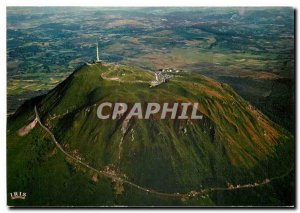 Modern Postcard Puy-de-Dome - Altitude 1465m The road and the summit view tak...