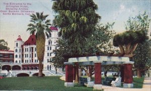 The Entrance To The Arlington Hotel Showing Arches Over Sunken Driveway Santa...
