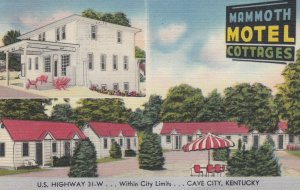 CAVE CITY , Kentucky , 30-40s ; Mammoth Motel Cottages
