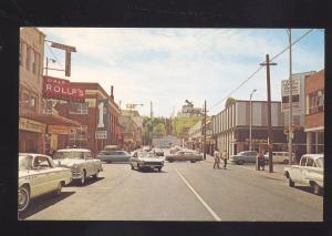 PORT ANGELES WASHINGTON DOWNTOWN MAIN STREET 1960's CARS OLD POSTCARD