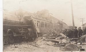 RP, ODESSA , Minnesota , 1911 ; Railroad Train Wreck of The Columbian