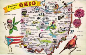 Greetings From Ohio With Map