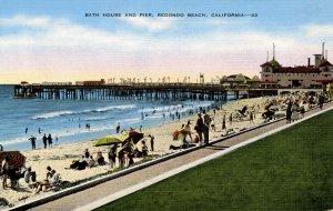 CA - Redondo Beach. Bath House and Pier