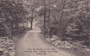 Over The Bridge To The Falls Paradise Falls Lutheran Association Cresco Penns...