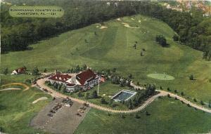 Johnstown Pennsylvania~Sunnehanna Country Club~Golf Course~Aerial View~Pool~1948