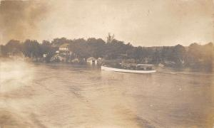 Frankfort Indiana~Excursion Boat~River~Mamma & I Going to White Pearl~1909 RPPC