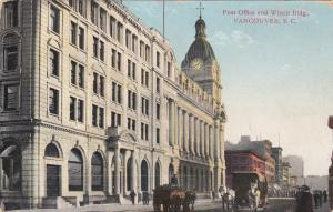 VANCOUVER, British Columbia, Canada, 1900-1910's; Post Office And Winch Building