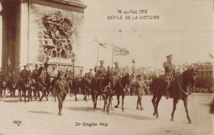 Military - 14 Juillet 1919 Défilé De La Victoire WW1 Sir Douglas Haig RPPC 02.90
