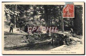 Old Postcard Villeneuve Saint Georges Beauregard La Cascade Park