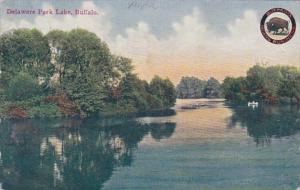 New York Buffalo Delaware Park Lake 1910