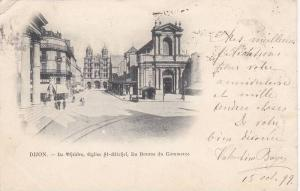 DIJON, Le Theatre, Eglise St-Michel, La Bourse du Commerce, Cote d´Or, Franc...