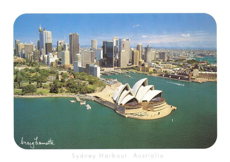 Postcard Sydney Harbour, and Opera House, Australia #704