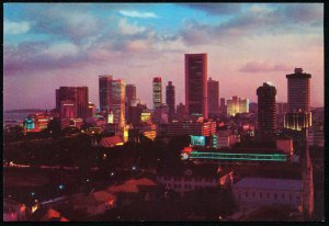 Night View of Commercial Centre Singapore 1970s S.W. #S7646 Asia Travel Postcard
