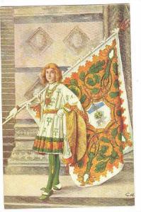Paggi delle storiche Contrase di Siena, SELVA, Page with Flag, Toscana, Italy...