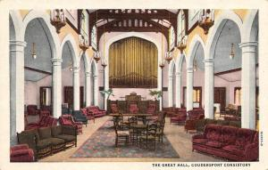 PA, Pennsylvania   COUDERSPORT CONSISTORY~The Great Hall   c1940's Postcard