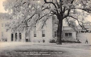 College Heights Arkansas A And M New Library Bldg Antique Postcard K62201