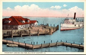 Virginia Old Point Comfort Steam Boat Landing and Pier Curteich