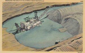 MARYSVILLE , California , 30-40s ; Dredging for Gold , Mining