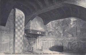 Switzerland Chateau du Chillon Chambre du Duc de Savoie au XIVme siecle