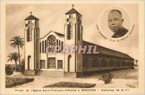 Modern Postcard Dahomey (AOF) Project of the Church of St. Francis of Assisi ...