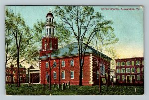 Alexandria VA-Virginia, Christ Church, Cemetery, Tombstones, Vintage Postcard