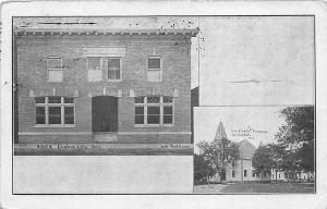 Central City NE YMCA and Methodist Church Postcard