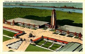 PA - Philadelphia. 1926 Sesqui-Centennial Int. Expo. Forum of Founders