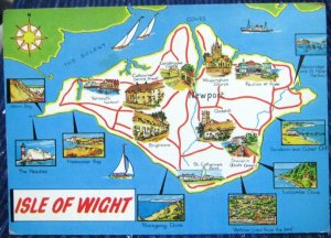 England Map Isle of Wight - posted 1980