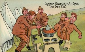 UK Comic Military; 1900-10s ; Common Objects-at camp The Sea Pie