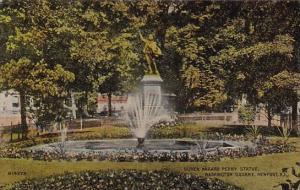 Rhode Island Newport Oliver Mazard Perry Statue Waskington Square