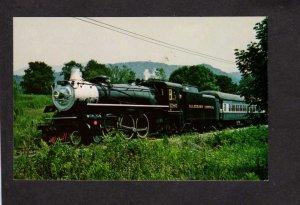 VA Alleghany Central Railroad Train Engine 1286 Covington Hot Springs Virginia