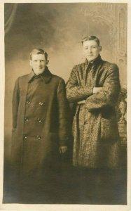 Postcard RPPC Handsome Brothers
