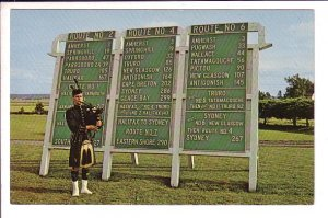Mileage Chart, Highland Bag Piper, Nova Scotia