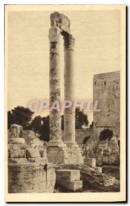 Postcard Ancient Arles Theater Antique Corinthian Columns Tower and Roland