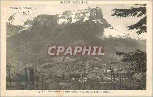 Postcard Old Savoie passing the Tourist Alpetite Marche Mont Granier and Abimes