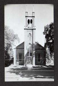 ME Church NEWCASTLE MAINE Postcard RPPC Real Photo PC Postcard