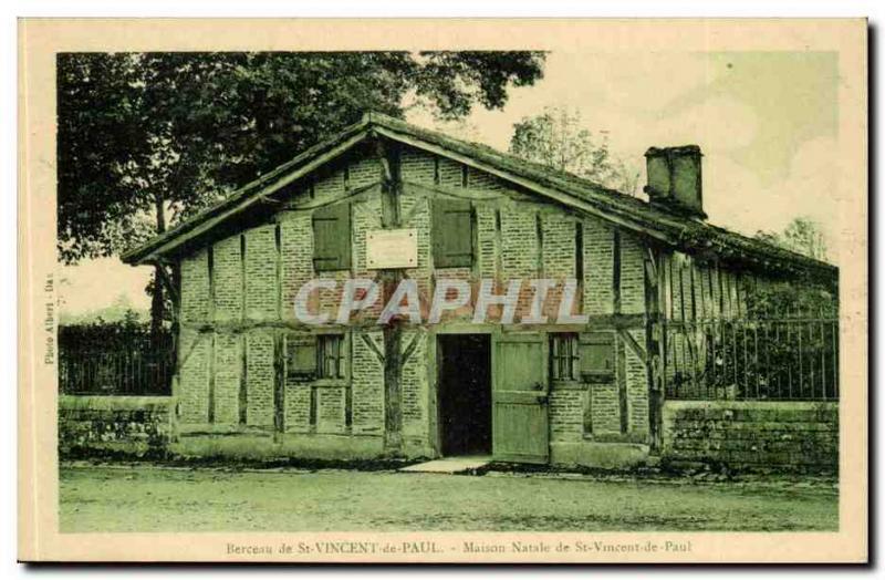 Cradle of St. Vincent de Paul - house - Old Postcard